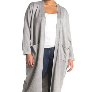 magaschoni Duster Coat Sweater Gray NWT plus 3XL